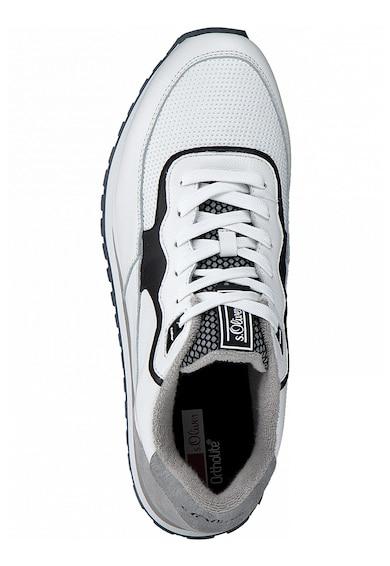 s.Oliver Pantofi sport low-top de piele cu model contrastant Barbati