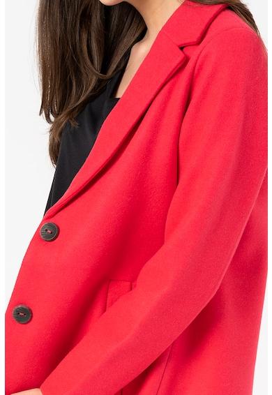 Only Palton din amestec de lana cu revere decupate Carmen Femei