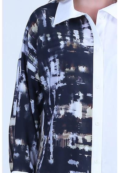 Format Lady Rochie tip camasa cu imprimeu abstract Femei
