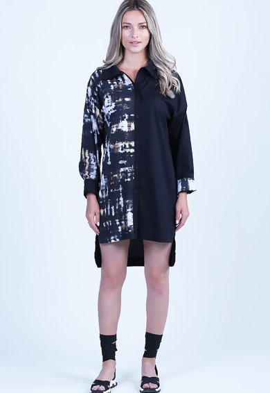 Format Lady Rochie asimetrica tip camasa Femei