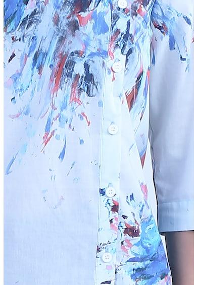 Format Lady Bluza asimetrica cu model tie-dye Femei