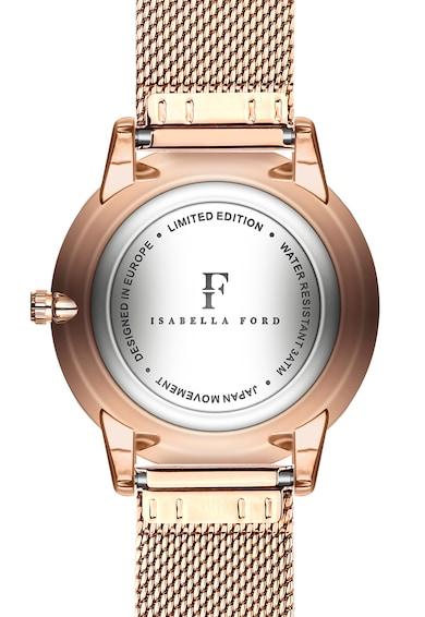 Isabella Ford Set de ceas quartz si curea intersanjabila din piele Femei