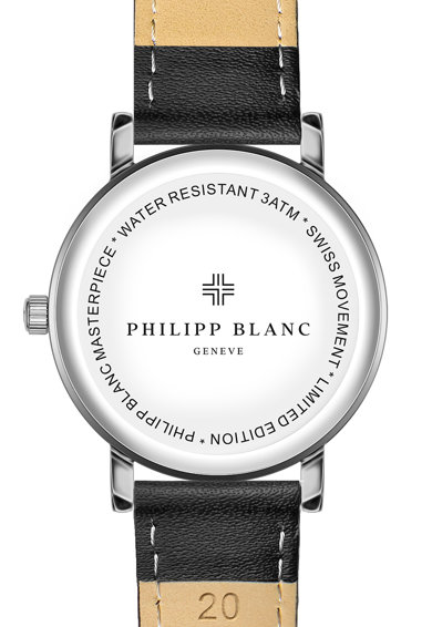 Philipp Blanc Ceas unisex analog cu o curea de piele Femei