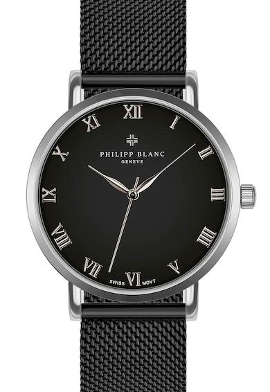 Philipp Blanc Ceas quartz unisex cu bratara cu model plasa Femei
