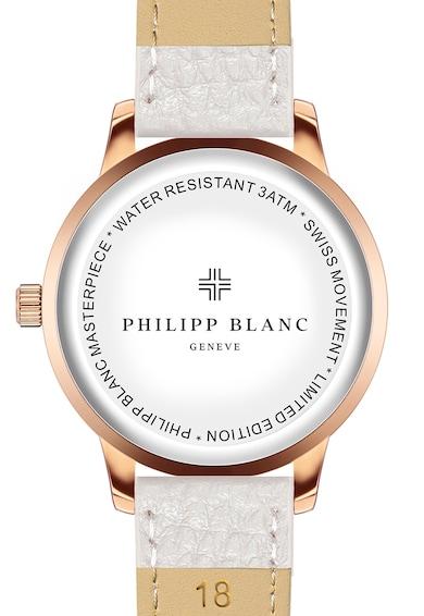 Philipp Blanc Ceas unisex cu o curea de piele realizat in Elvetia Femei
