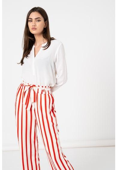 LTB Bluza cu maneci lungi si decolteu in V Femei