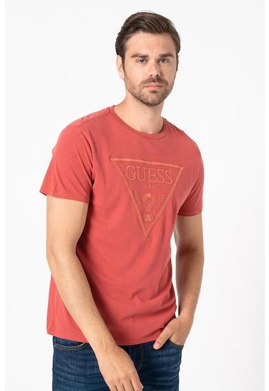 GUESS JEANS Tricou slim fit cu logo triunghiular brodat Barbati