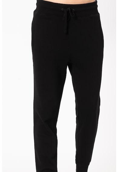 GUESS JEANS Pantaloni sport conici cu banda cu logo in talie Barbati
