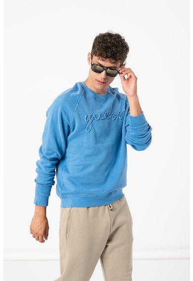 GUESS JEANS Bluza sport cu maneci raglan si logo Barbati
