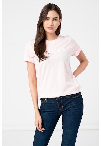 GUESS JEANS Tricou de bumbac cu imprimeu logo Femei