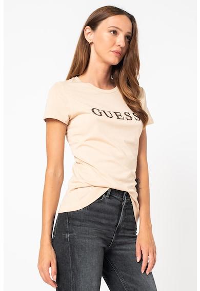 GUESS JEANS Tricou de bumbac cu logo Femei
