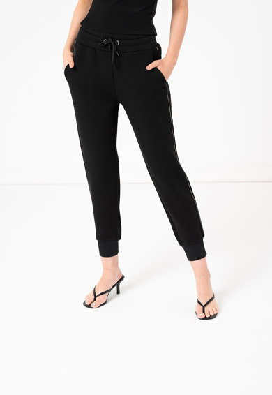 GUESS JEANS Pantaloni sport conici cu snur in talie Femei