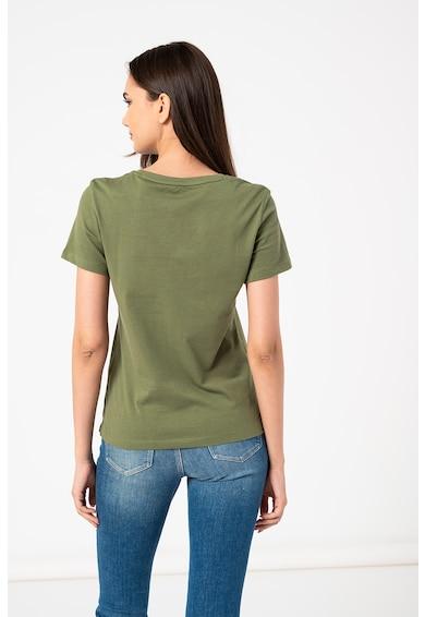 GUESS JEANS Tricou de bumbac organic cu imprimeu logo Femei