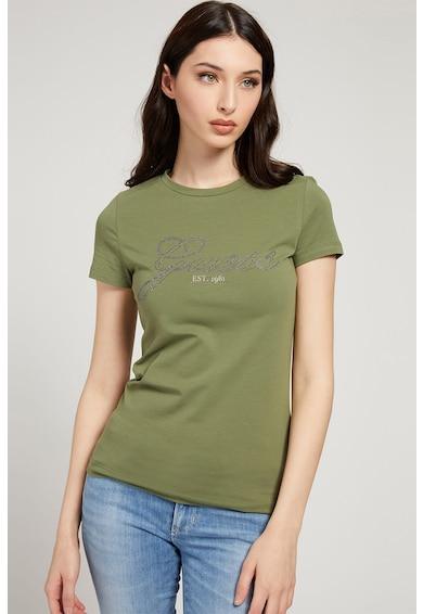 GUESS JEANS Tricou cu logo cu strasuri Femei