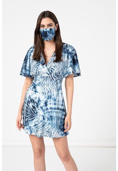 GUESS JEANS Rochie cu model tie-dye cu decolteu in V Femei