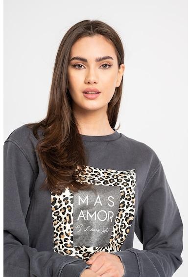 GUESS JEANS Bluza sport cu text si animal print Femei