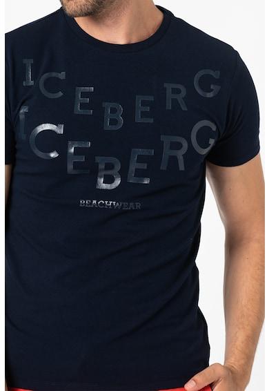 Iceberg Tricou de plaja cu logo cauciucat Barbati