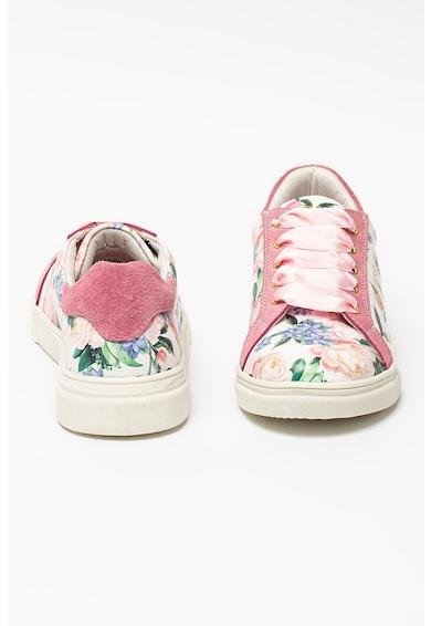 Guess Pantofi sport cu insertii de piele intoarsa si imprimeu Fete