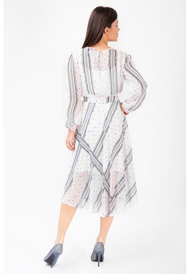 Couture de Marie Rochie midi cu dungi si buline Eden Femei