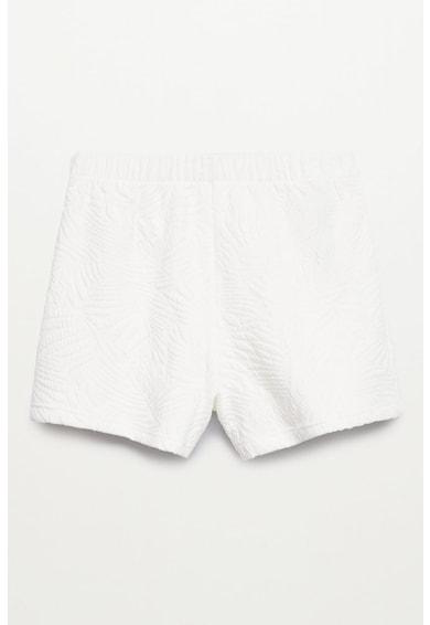 Mango Pantaloni scurti cu aspect texturat si talie elastica Malibu Fete