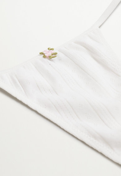 Mango Chiloti tanga cu perforatii Flores Femei
