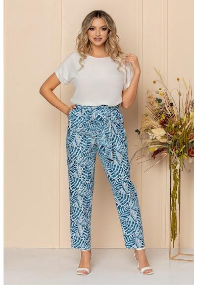 BAROCCA Pantaloni cu model vegetal si cordon Femei