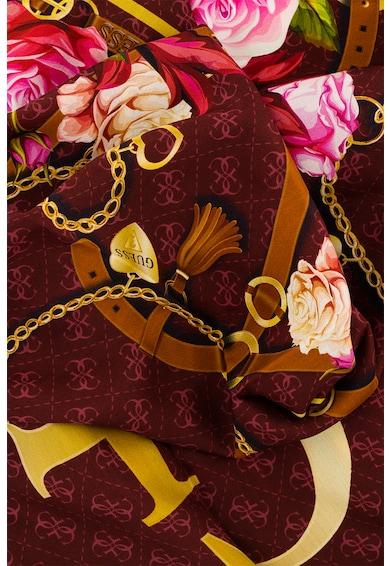 Guess Esarfa din amestec de modal si matase cu detalii florale Femei