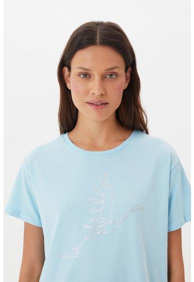 Trendyol Tricou din bumbac cu imprimeu grafic Femei