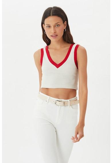 Trendyol Top crop cu garnituri contrastante Femei