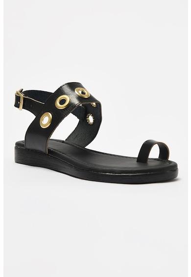 Trendyol Sandale din piele ecologica cu bareta pe deget Femei
