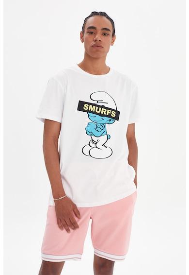 Trendyol Tricou cu decolteu la baza gatului si imprimeu cu desene Barbati