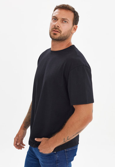 Trendyol Tricou de bumbac cu imprimeu pe partea din spate Barbati