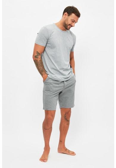 Trendyol Tricou si pantaloni scurti de pijama din bumbac Barbati