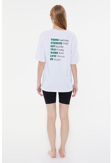 Trendyol Tricou si colanti scurti de pijama Femei