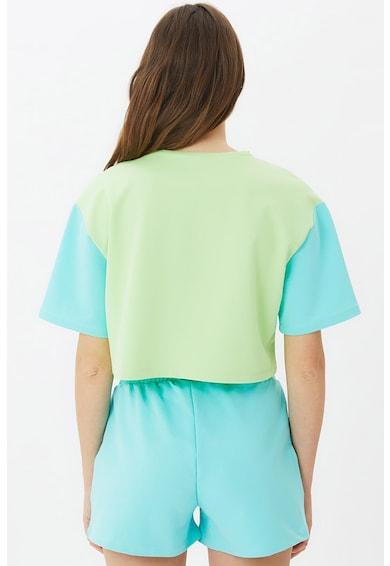 Trendyol Pijama cu pantaloni scurti si model colorblock Femei