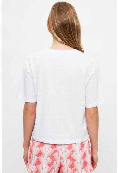 Trendyol Pijama cu pantaloni scurti cu imprimeu cu scoici Femei