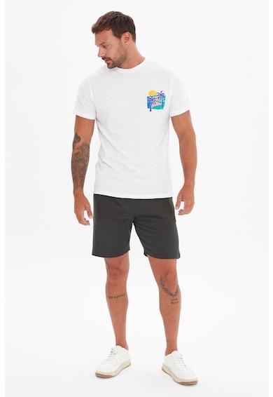 Trendyol Tricou de bumbac cu imprimeu tropical Barbati