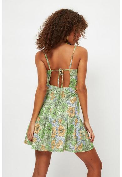 Trendyol Rochie mini de plaja cu imprimeu floral Femei