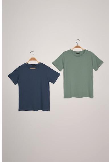 Trendyol Set de tricouri cu decolteu la baza gatului - 2 piese g Femei
