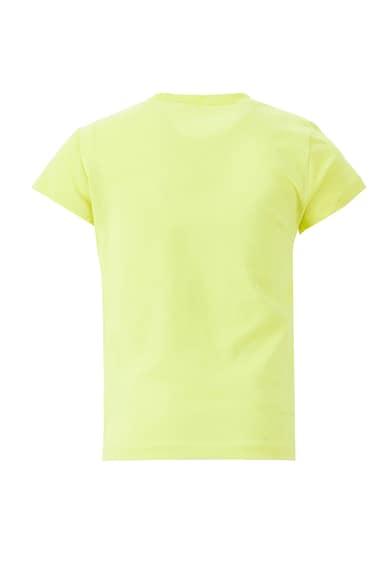 DeFacto Tricou cu decolteu la baza gatului si imprimeu grafic Fete