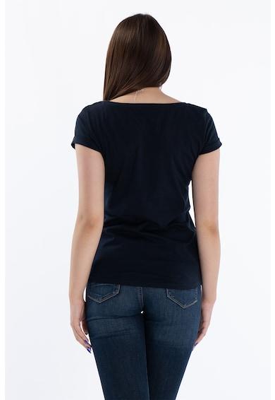 Kenvelo Tricou cu decolteu rotund si imprimeu text Femei