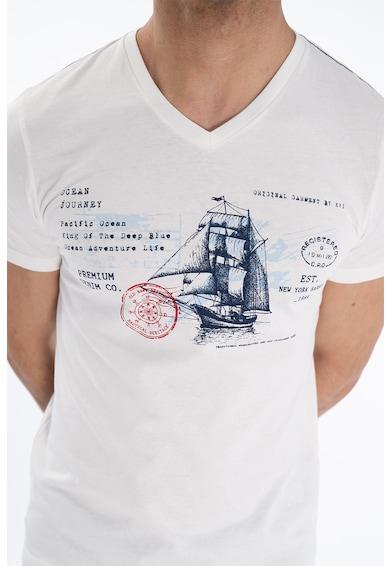 Kenvelo Tricou cu imprimeu si decolteu in V Barbati