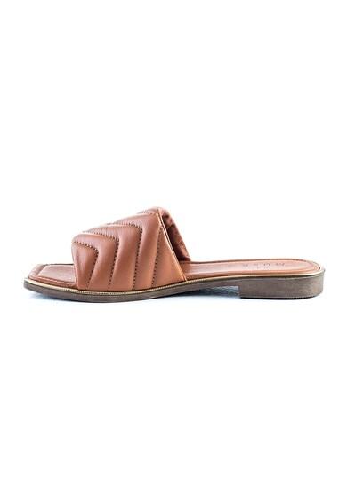 MUSK Papuci de piele cu garnituri cu cusaturi Femei