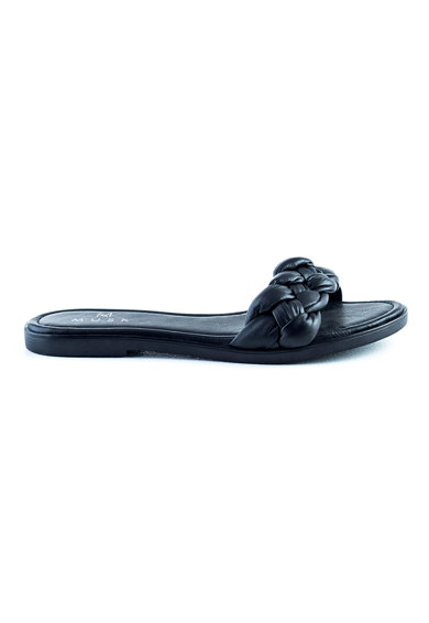 MUSK Papuci de piele cu detaliu innodat Femei