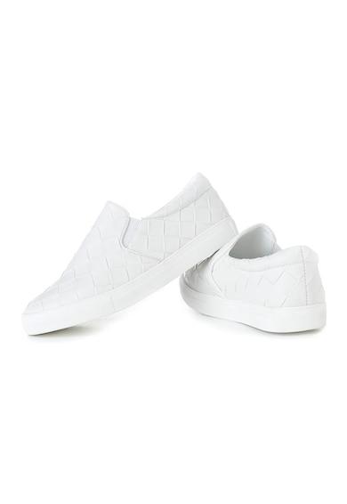 MUSK Pantofi slip-on de piele cu aspect texturat Femei