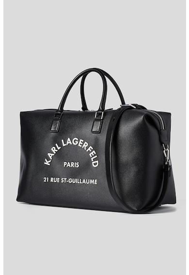 Karl Lagerfeld Geanta duffle cu imprimeu logo Barbati