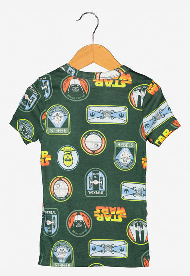 GAP Pijama din bumbac organic cu imprimeu grafic Baieti