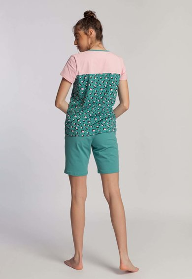 Sofiaman Pijama cu pantaloni scurti si animal print Greta Femei