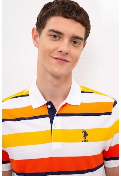 U.S. Polo Assn. Tricou polo regular fit cu model in dungi Barbati