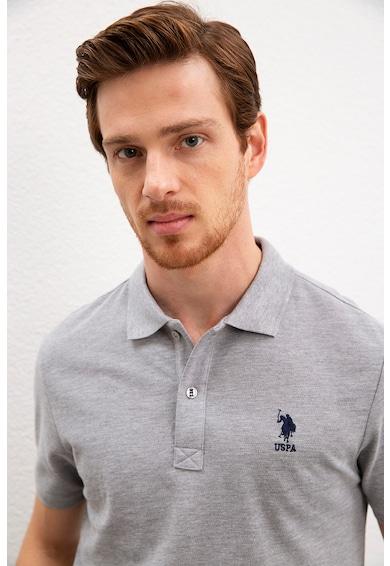 U.S. Polo Assn. Tricou polo slim fit cu broderie logo Barbati